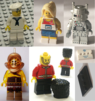 Lego series minifigures, replacement  figures, parts.